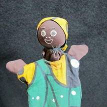 Vintage Folk African American Handmade Cone Puppet Toy Pop-up Stick BARN... - $24.95
