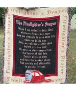 Tapestry Throw Blanket  Firefighters A Firemans Prayer - $37.40