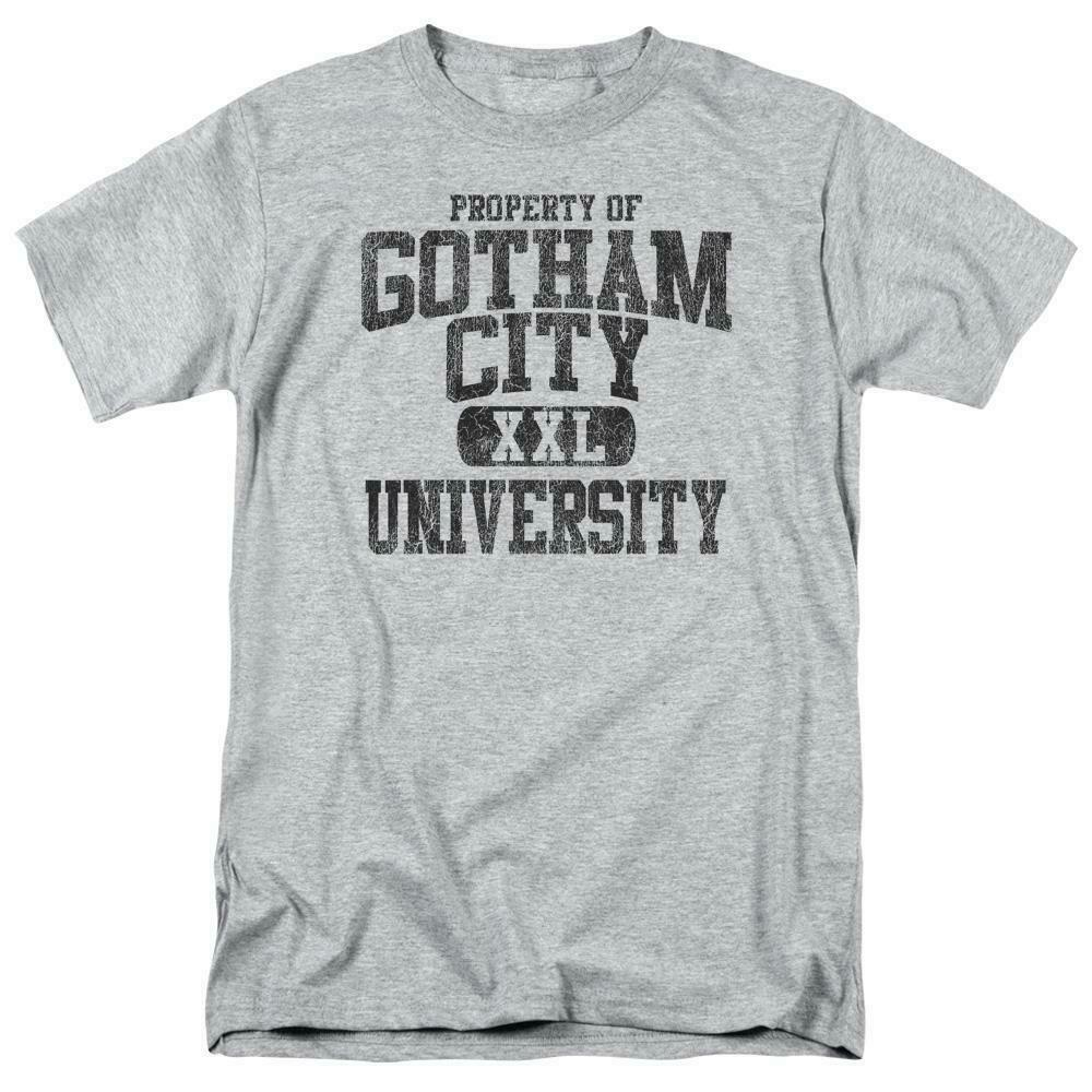 BATMAN PROPERTY OF GCU  T-SHIRT Gotham superhero 100% cotton graphic tee BM1952