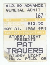 RARE Pat Travers 5/31/86 Portland OR Starry Night Ticket Stub! - $12.86
