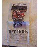BLACKHAWKS WIN STANLEY CUP HAWKS HAT TRICK ZAP LIGHTNING 2015 CHICAGO TR... - $48.51