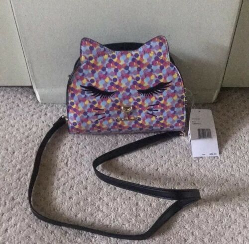 Primary image for Betsey Johnson Cat Purse Crossbody Kayla Confetti Rainbow Luv Betsey