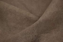 43'' Wide Handworked Fabric Thick Canvas Fabric Dark Brown (17.5 43 Inches)