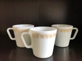 Pyrex Milk Glass Vintage Brown/Yellow Flower Pattern - Three - $7.99