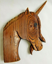 """Fantasies Unicorn Horse Hand-cut Wooden Distressed Rustic Wall Hanging 12"""" - $29.95"""