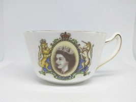 1953 VINTAGE QUEEN ANNE FINE BONE CHINA QV QUEEN VICTORIA CORONATION CUP - $19.99
