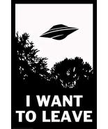 sy'decorative I Want to Leave UFO Funny inch Poster 24x36 inch - $18.79