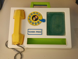 EUC 1978 VTG FISHER PRICE #153 Message Center Chalkboard Telephone Great... - $11.75