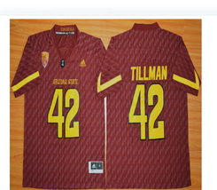 online retailer 412ab 0b37f ebay sun devils 8 d j foster new red stitched ncaa jersey ...