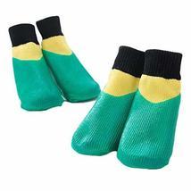 PANDA SUPERSTORE 4 Pcs Dog Knitted Socks Pet Leg Socks Teddy Small Dog Waterproo