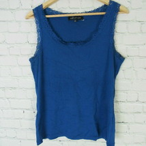 Jones New York Petite Large Top Womens Blue PL Lacey - $18.15