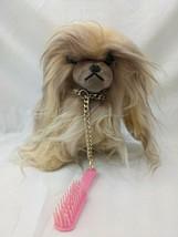 """Avlon Inc Long Hair Dog Plush 8"""" Brush Japan Stuffed Animal Toy - $29.95"""