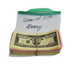 Game of Life All Money Demand Note Bills Only Replacement Parts  - $19.59