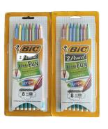 2 - BIC Xtra-Fun #2 Pencil Stripes - 8 Count - Break Resistant Lead - New  - $9.87
