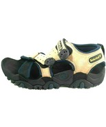 Timberland Mens Sandals Trail Dog Beige Blue Hiking Outdoors 17163 Leath... - $56.98