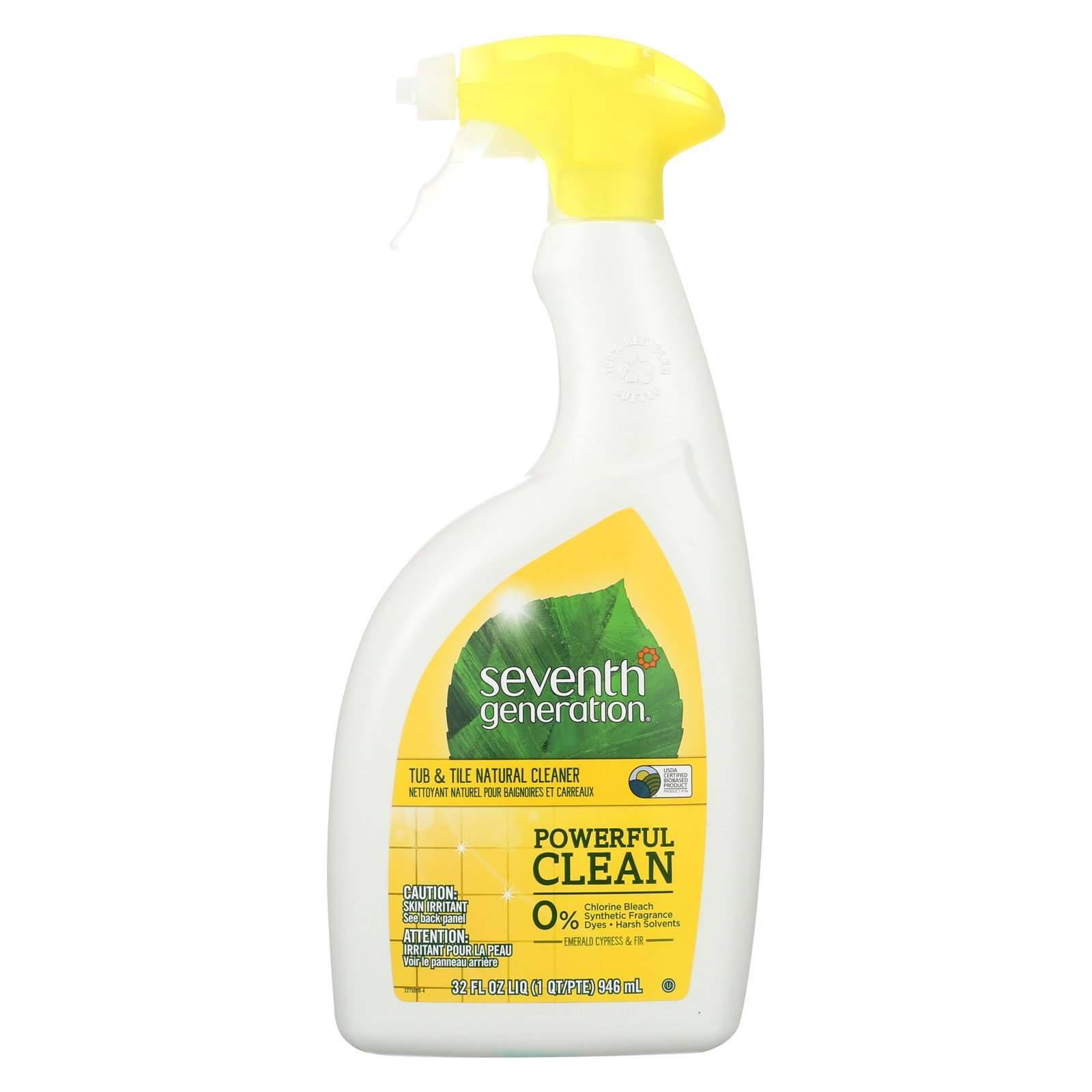 Seventh Generation Tub and Tile Natural Cleaner - Emerald Cypress and Fir - Case