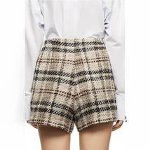Women's Famous English Designer 2 Piece Solid Khaki Plaid  Blazer Set image 2