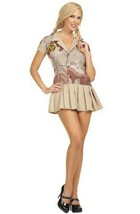 Commando Cutie Camouflage Adult Womens Halloween Dress Up Costume Size 2-4 - $12.82