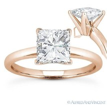 Square Cut Forever ONE D-E-F Moissanite 14k Rose Gold Solitaire Engagement Ring - $351.20+