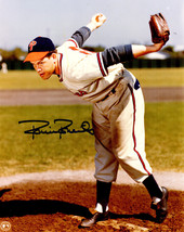 Robin Roberts Signed Philadelphia Phillies Pitching Wind Up 8x10 Photo - $50.00