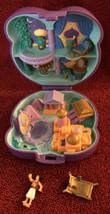 Vintage Disney 1995 Bluebird Polly Pocket Aladdin Playset Compact Doll & Carpet - $38.96