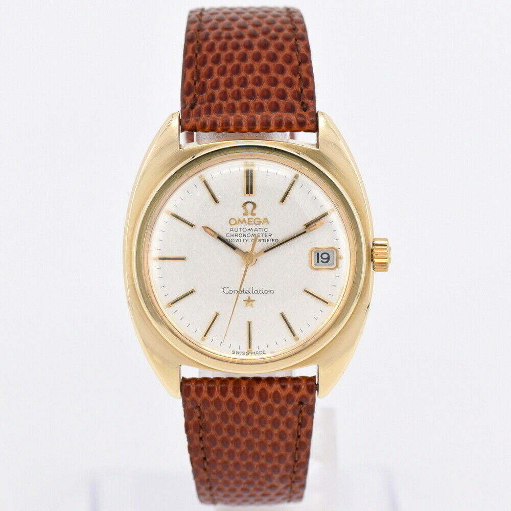 "Omega ""Constellation GP leather Date self-winding"" Men's Watch K # 84459"