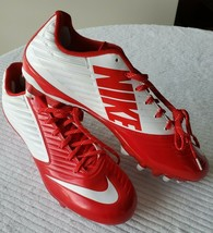 Nike Vapor Speed Cleats Red/White Men's size 13.5 New without box - $29.69