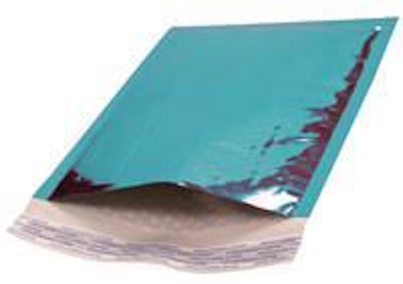 "Primary image for #DVD Metallic Teal Bubble Mailer Padded Envelopes 6.5"" X 9"" 250 Pieces"