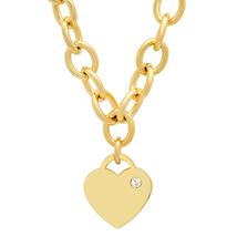 PIATELLA Unisex 18K Gold Plated heart necklace adorned with Swarovski Cr... - $15.99