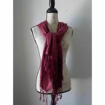 Dark Pink Wrap Scarf 28x72 All seasons - $12.52