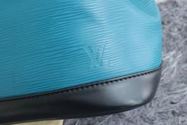 100% Authentic Louis Vuitton Epi Noe BB Bucket Bag Bi Color Blue image 5