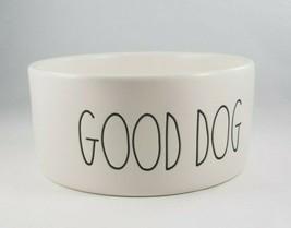 Rae Dunn Magenta 'Good Dog' Matte White Pet Ceramic Bowl Dish 6in x 2.75... - $14.24