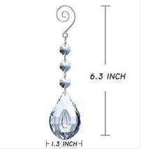 10PCS Angle Teardrop Crystal Lamp Prisms Parts Hanging Light Pendants Chandelier - $13.87