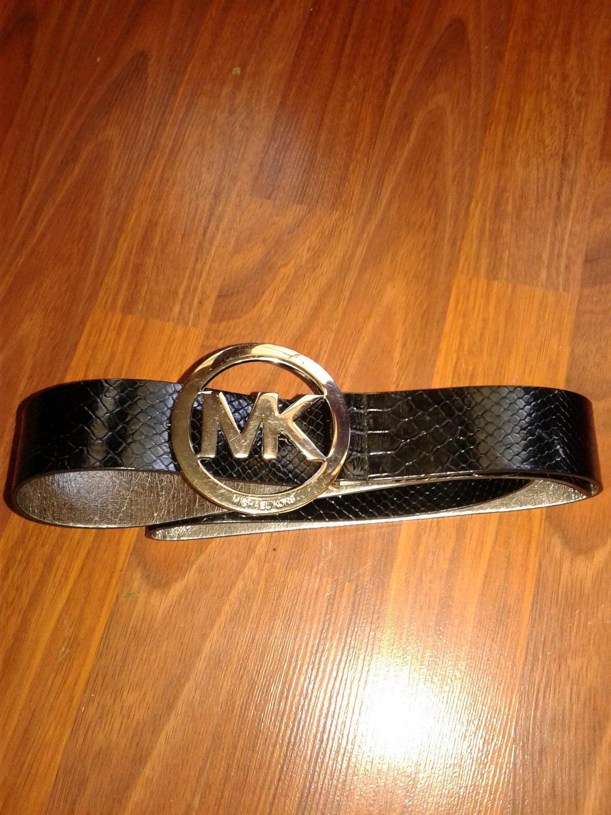 1ef6165cd3a5b Michael Kors Women s MK Black Leather Belt and 50 similar items. 20180828  160730