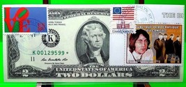 MONEY $2 DOLLARS 2009 FEDERAL RESERVE STAR NOTE DALLAS ICON MUSIC BEATLE... - $298.53
