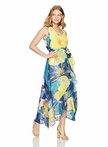 Sangria Women's Petite Dress Sleeveless Floral  Pbwr1amr, Multi Yellow B... - $51.65