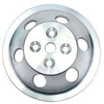 Chevy Small Block Single-Groove Aluminum Short Water Pump Pulley image 4