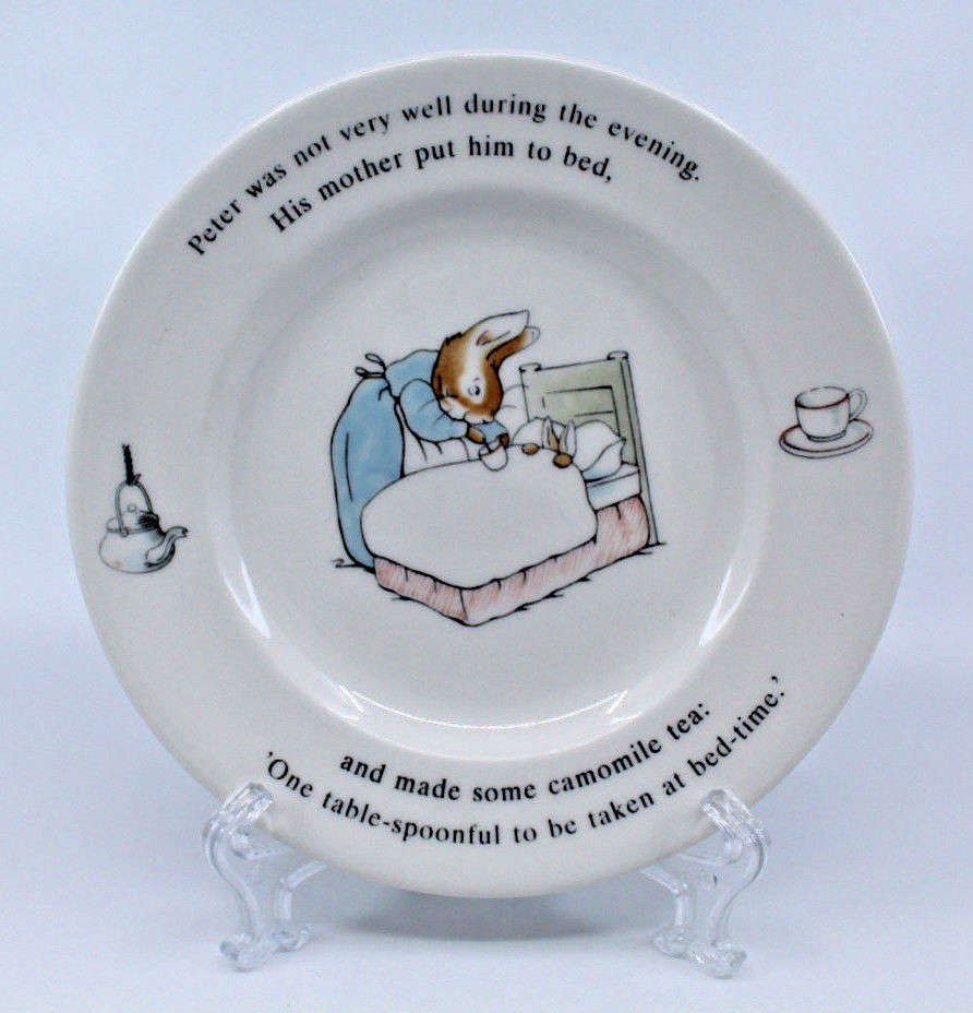 "Wedgwood Peter Rabbit Frederic Warne&co Bread & Butter 7"" 17.8 cm Plate England"
