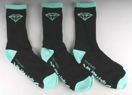 NEW 3 Pack of Diamond Supply Co Black diamond Blue Casual Cotton Crew Socks