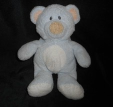 Ty Pluffies 2006 Love To Baby Blue Teddy Bear Peach Ears Stuffed Animal Plush - $21.88