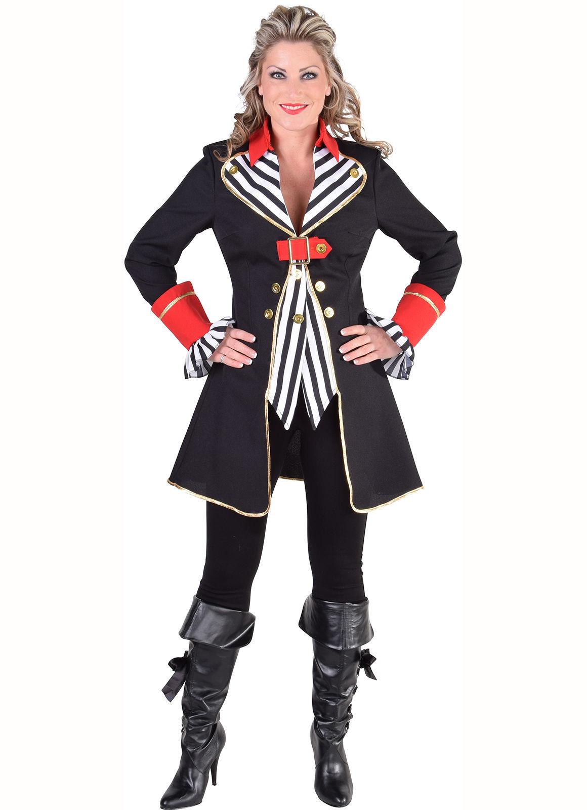 Ladies Pirate Jacket - Striped Waistcoat style , XS-XXL