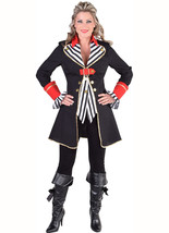 Ladies Pirate Jacket - Striped Waistcoat style , XS-XXL - $62.84