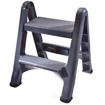 2-Tier Step Stool Lightweight Fold Down Plastic... - $36.18