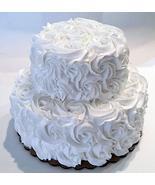 "Dezicakes White Wedding Cake Tier Rosette Fake Cake 9"" x 7.25"" unedible ... - €39,82 EUR"