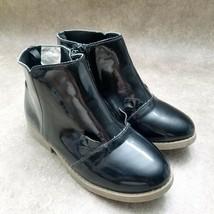 Gymboree Big Girls Sz 1 M Black Ankle Boots Booties - $19.99