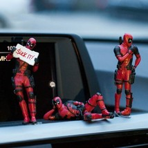 Marvel X- Deadpool Personality Car Ornament Action Figure Sitting Model ... - $9.28+