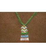 Borneo Unique Art Rare Beads Tassel Drop Necklace Ethnic Orang Ulu Statu... - $47.49