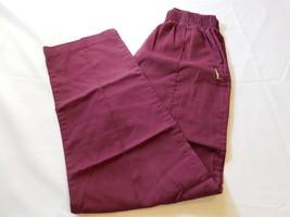 Landa Unisex Mens womens Long Pants Scrubs Burgandy front pocket No size tag GUC - $13.36