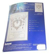 An item in the Crafts category: Janlynn Counted Cross Stitch Kit Wedding Doves New Bride Groom Newlywed Gift