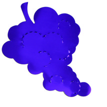 Grapes Cutouts Plastic Shapes Confetti Die Cut FREE SHIPPING - $6.99